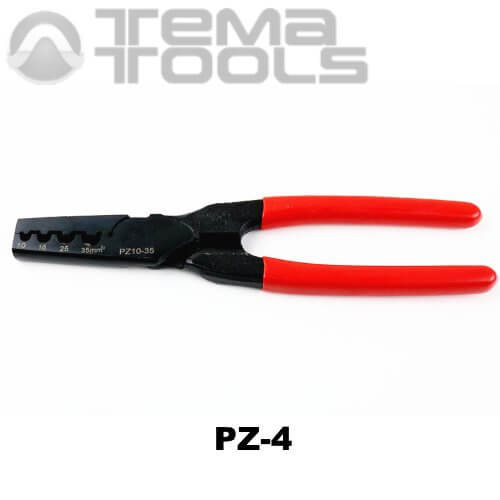 Инструмент опрессовочный PZ-4 (10-35 мм²) ручной для втулочных (трубчатых) наконечников
