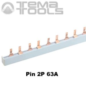 Шина соединительная Pin 2P 63А 1м