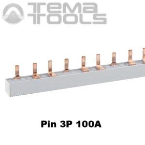 Шина соединительная Pin 3P 100А 1м
