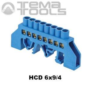 Шина нулевая изолированная HCD 6x9-4