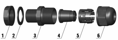 Устройство пластикового гермоввода