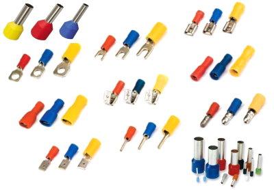 Разные виды кабельных наконечников