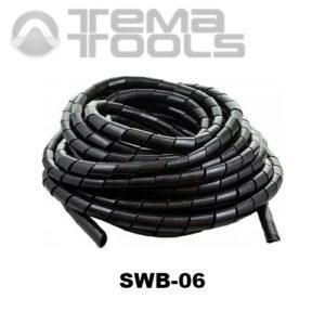 Спиральная обвязка для проводов SWB-06 черная