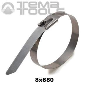 Стяжка металлическая кабельная 8x680 мм