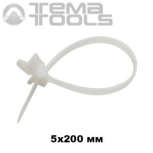 5x200 кабельная стяжка с монтажной головкой