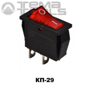 Клавишный переключатель КП-29 с красной узкой прямоугольной клавишей