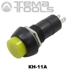 Кнопка нажимная КН-11А с фиксацией с желтой круглой клавишей – купить нажимную кнопку управления с фиксацией