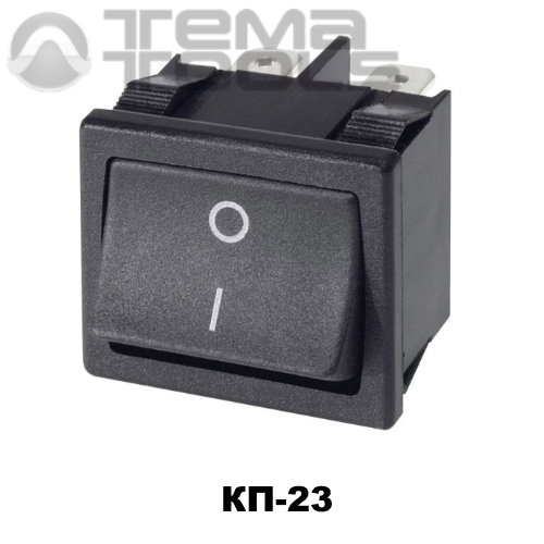 Клавишный переключатель КП-23 с черной прямоугольной клавишей без подсветки – купить рокерные клавишные переключатели 220В 5А с фиксацией