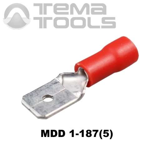 Плоский коннектор MDD 1-187(5) папа